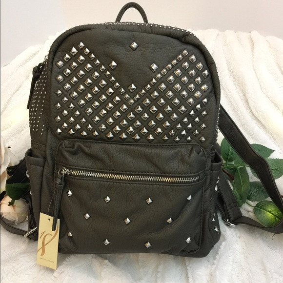 Collection 18 Handbags - **HOST PICK** Collection 18 Studded Olive Backpack